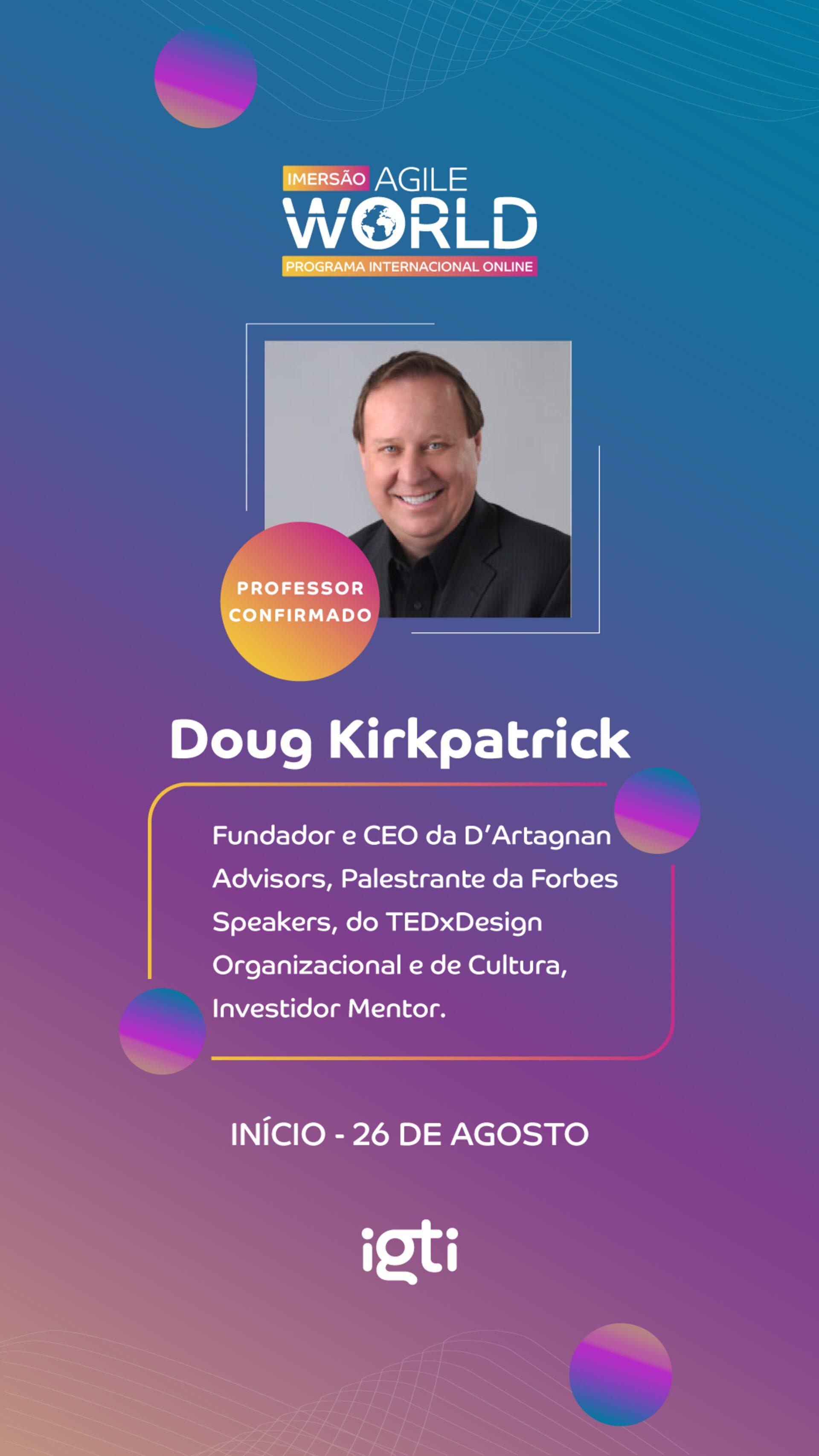 Speaking at International Program Agile World Brazil (sponsored by igti), October 14, 2021